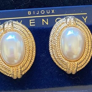 GIVENCHY Vintage Earrings Pearl Cabochons